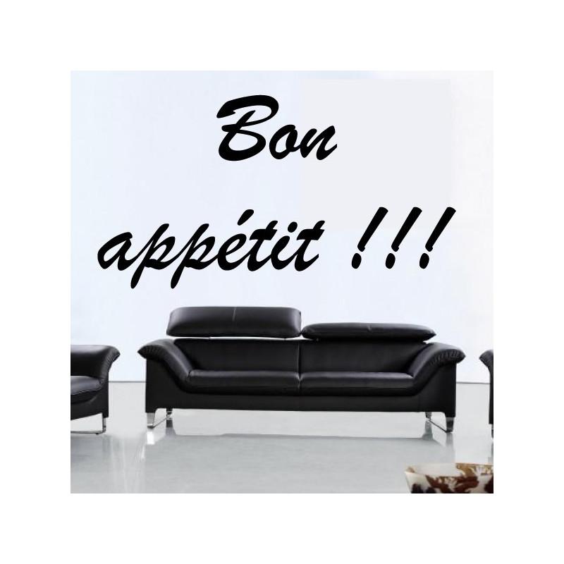Sticker Lettrage Bon appétit !!!