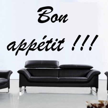 Lettrage Bon appétit !!!