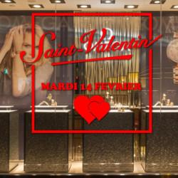 vitrine Encadré Saint-Valentin 14 février
