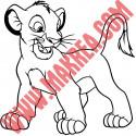 Sticker Roi Lion - Lionceau Simba