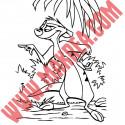 Sticker Roi Lion - Timon