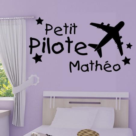 Avion Petit Pilote + prénom personnalisable