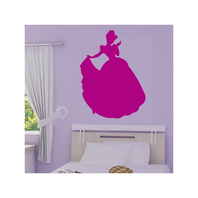 Sticker Princesse Disney - Silhouette Cendrillon