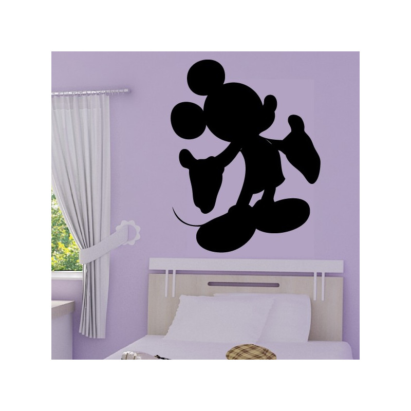 Sticker Mickey - Silhouette bras ouverts