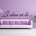 """Citation """"Le silence est lié ..."""""""