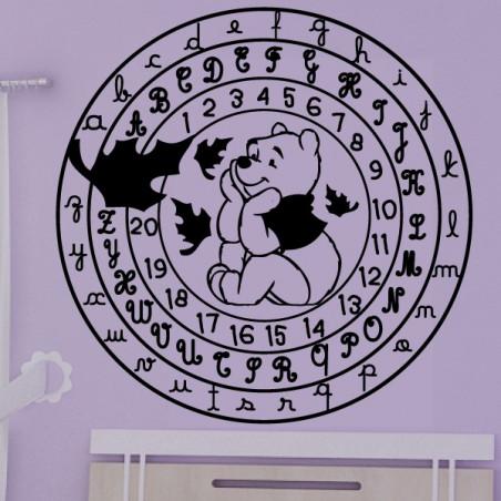 Winnie l'ourson Cercle Alphabet et Chiffres