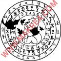 Sticker Winnie l'ourson Cercle Alphabet et Chiffres