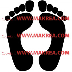 Sticker Empreintes de pieds