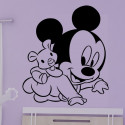 Sticker Bébé Mickey Peluche