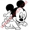 Sticker Bébé Mickey Peluche