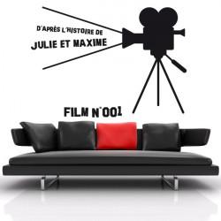 Sticker Cinema - Caméra sur pieds & Texte perso