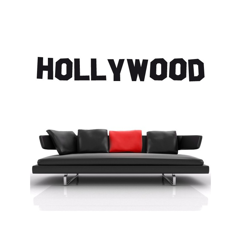 Sticker Cinema - Lettrage Hollywood