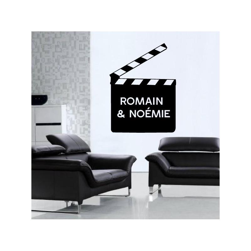 Sticker Cinema - Clap & Prénoms