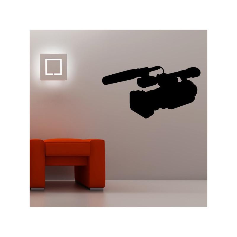 Sticker Cinema - Silhouette Caméra