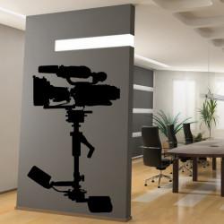 Sticker Cinema - Caméra sur pied