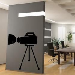 Sticker Cinema - Caméra sur pieds