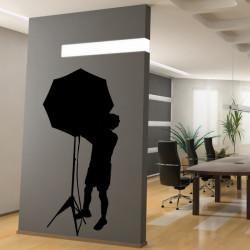 Cinéma - Silhouette Technicien Parapluie