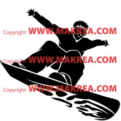 Sticker Surfeur Freestyle