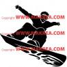 Sticker Surfeur Freestyle