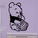 Sticker Winnie Bébé Pot de Miel