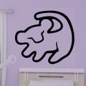 Sticker Dessin d'enfant Chat