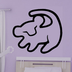 Sticker Dessin d'enfant Chat