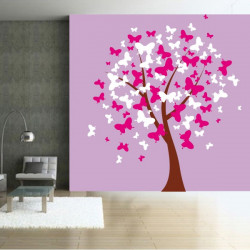 Sticker Nature - L'arbre aux Papillons 3 couleurs