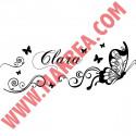 Sticker Papillons Ornements & Prénom
