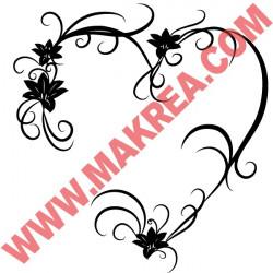 Sticker Coeur fleuri