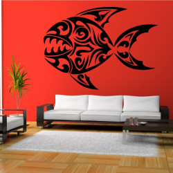 Sticker Poisson Tribal