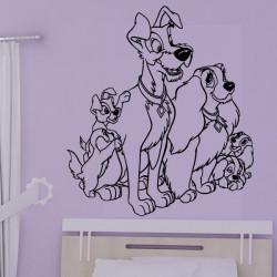 Sticker Belle et le Clochard - Famille