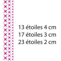 Sticker lot 53 petites étoiles 3 tailles