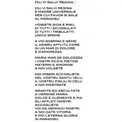 Chanson Hymne Corse - Diu Vi Salvi Regina 72x180cm