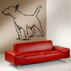 Sticker Chien Bull Terrier