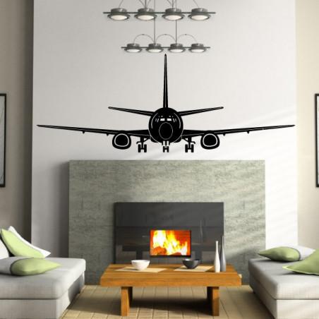 Avion de ligne de face