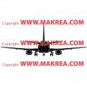 Sticker Avion de ligne