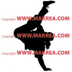 Sticker Danseur Hip-Hop