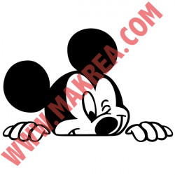 Sticker Mickey Visage se Cache