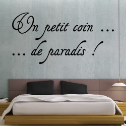 Sticker Citation : Un petit coin ... de paradis !