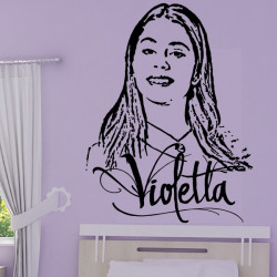 Sticker Violetta - Portrait et Logo