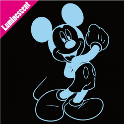 Sticker Luminescent Mickey Heureux