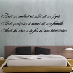 """Texte Citation """" Avoir un endroit où aller est un foyer ... """""""