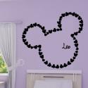 Sticker Mickey - Tête Géante avec prénom