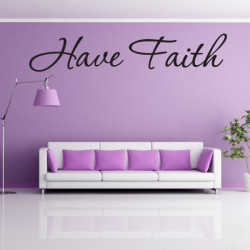 Sticker Lettrage Have Faith