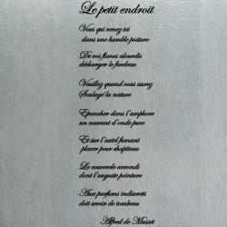 texte Lettrage : Le petit endroit - Alfred de Musset