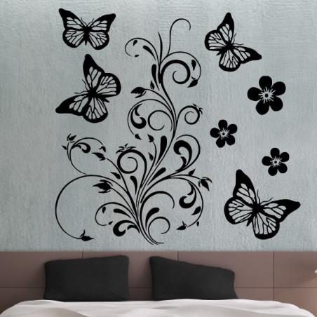 Nature - Ornements Fleurs et Papillons