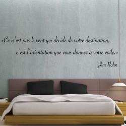 Texte Citation : Ce n'est pas le vent qui décide de votre destination, c'est l'orientation - Jim Rohn