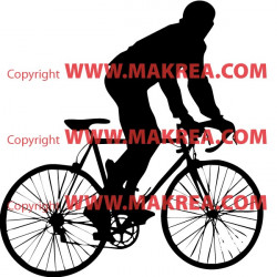 Sticker Cycliste 3
