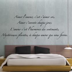 """Texte Lettrage """"Aimer l'amour, c'est s'aimer soi..."""""""