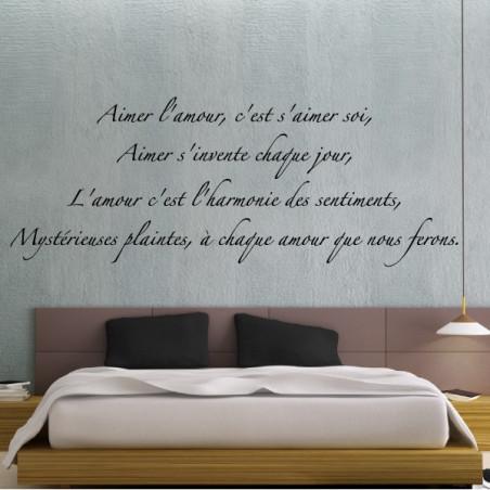 """Sticker Texte Lettrage """"Aimer l'amour, c'est s'aimer soi..."""""""